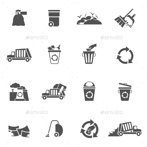Garbage Icons Black - Miscellaneous Icons