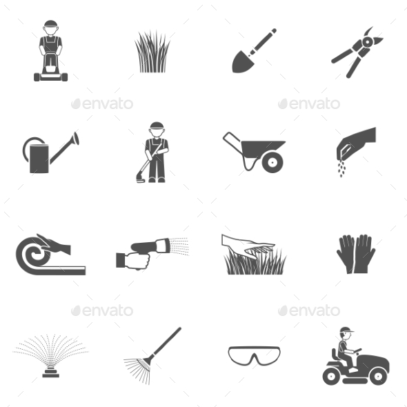 Lawn Man Icon Set - Miscellaneous Icons