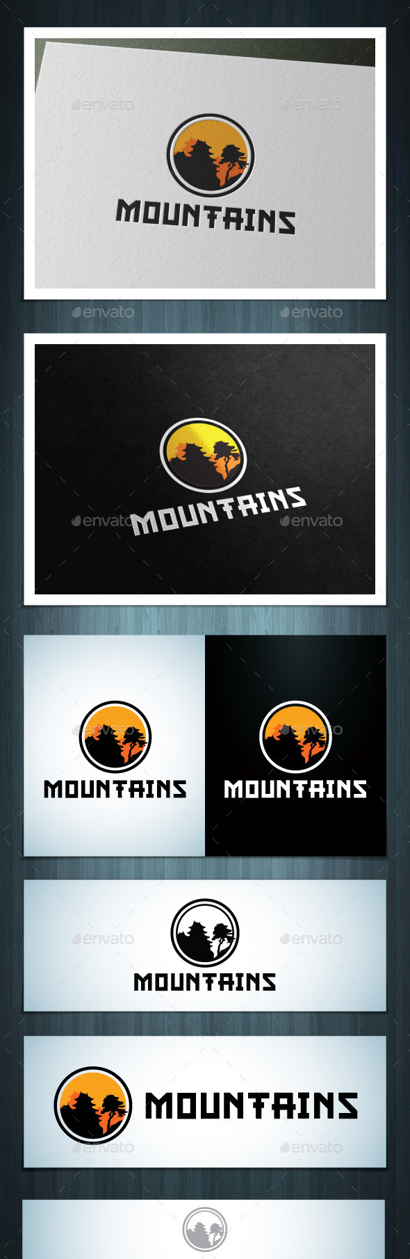 Mountains - Vector Abstract