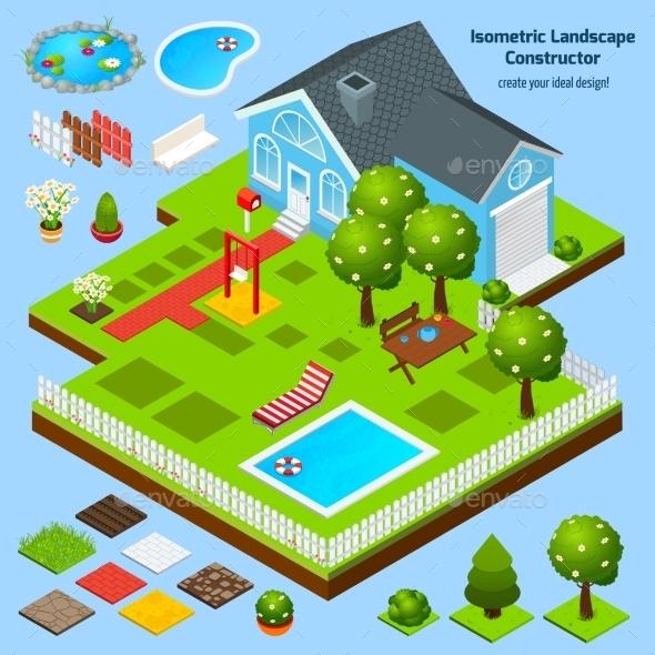 Landscape Design Isometric - Nature Conceptual