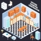 Isometric Kitchen Interior - GraphicRiver Item for Sale