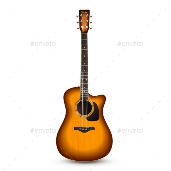 Guitar Realistic Isolated - Man-made Objects Objects