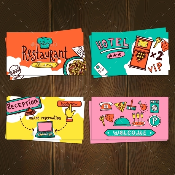 Hotel Cards Set - Business Conceptual