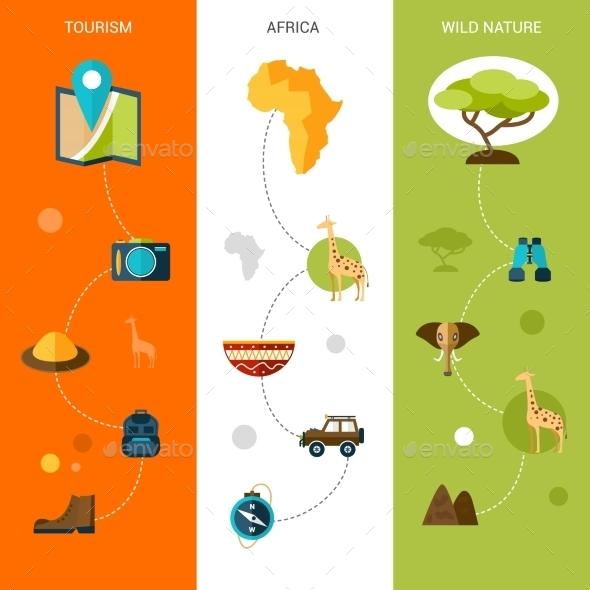 Safari Vertical Banners - Nature Conceptual