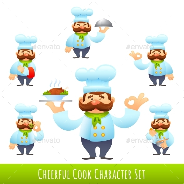 Cook Cartoon Characters - Business Conceptual