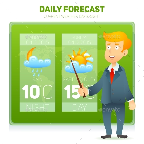 Tv Weather News Reporter - Miscellaneous Vectors