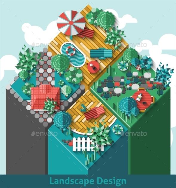 Landscape Design Concept - Miscellaneous Vectors