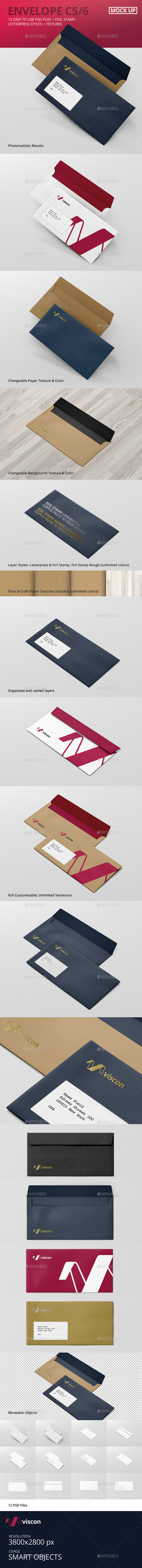 Envelope C5 / 6 Mock-Up - Stationery Print