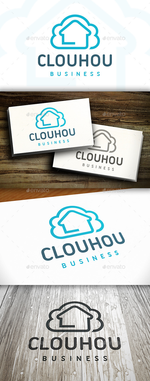 Cloud House Logo - Buildings Logo Templates