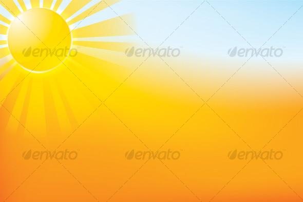 Sun Landscape - Backgrounds Decorative