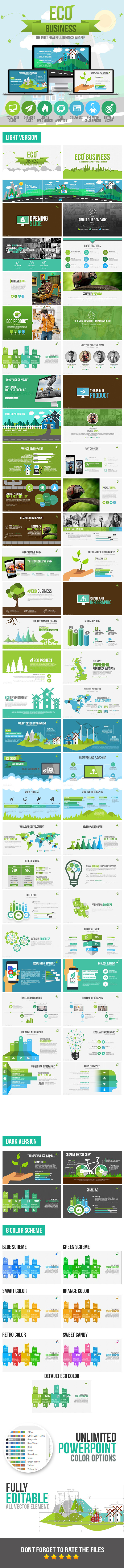 Eco Business Presentation Template - Business PowerPoint Templates