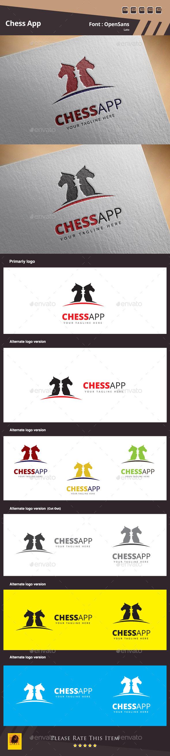 Chess App Logo Template - Symbols Logo Templates
