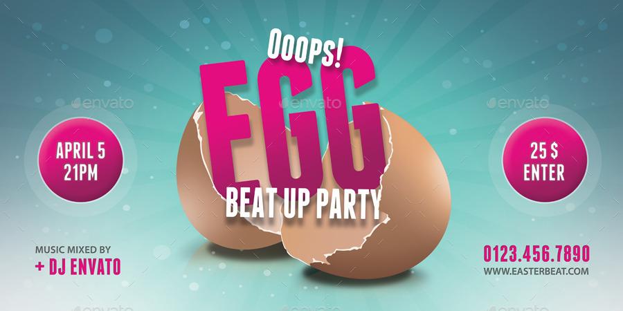 Easter Break Up Party Outdoor Banner