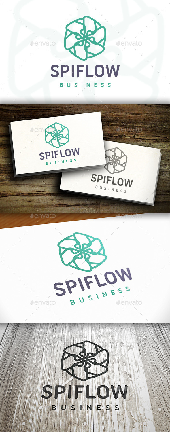 Abstract Flower Logo - Vector Abstract