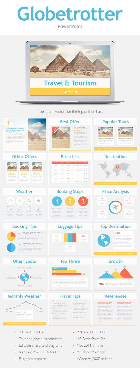 Globetrotter PowerPoint Template - PowerPoint Templates Presentation Templates