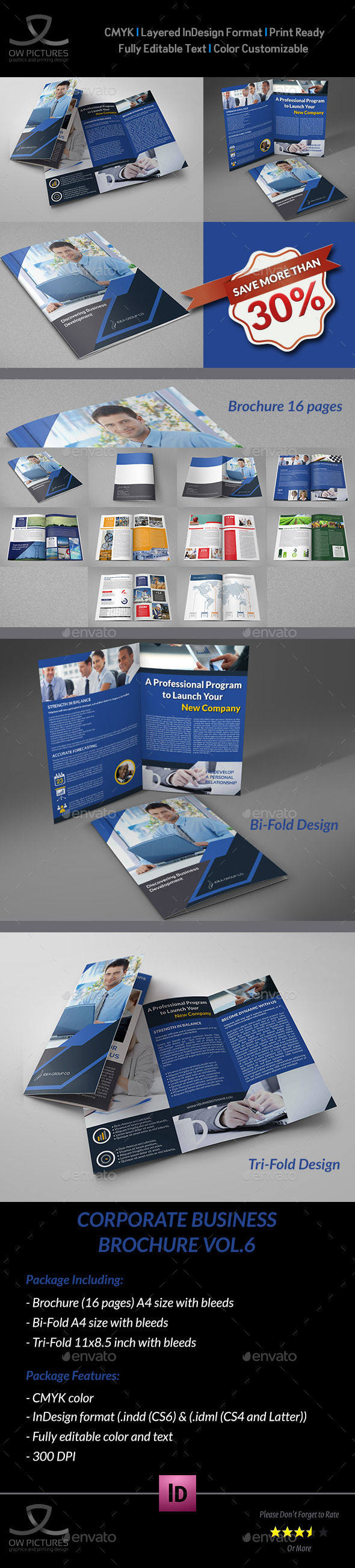 Company Brochure Bundle Vol.6 - Brochures Print Templates