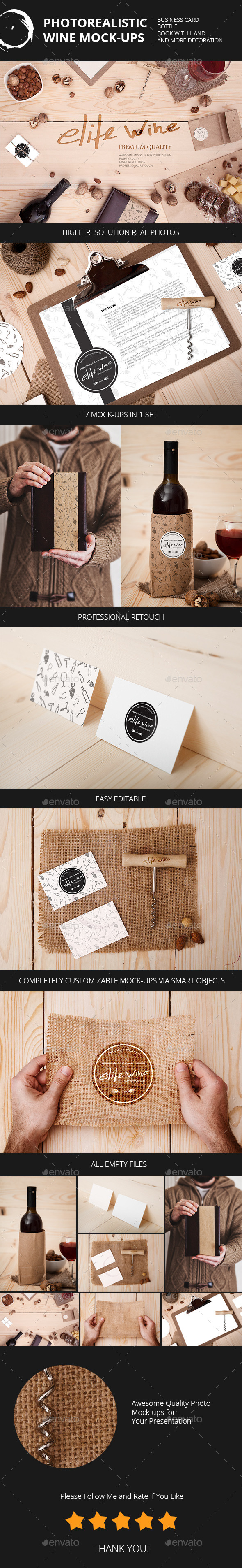 Wine Themes Mock-Ups - Miscellaneous Print