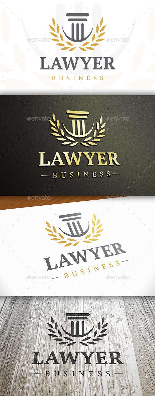 Law Elegant Logo - Objects Logo Templates