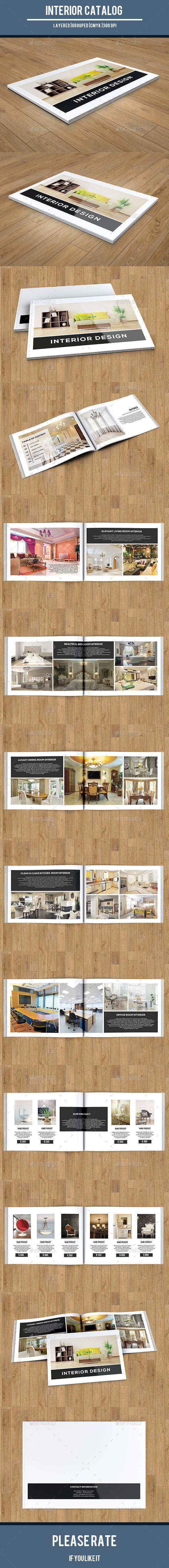 Interior Catalog Template-V152 - Catalogs Brochures