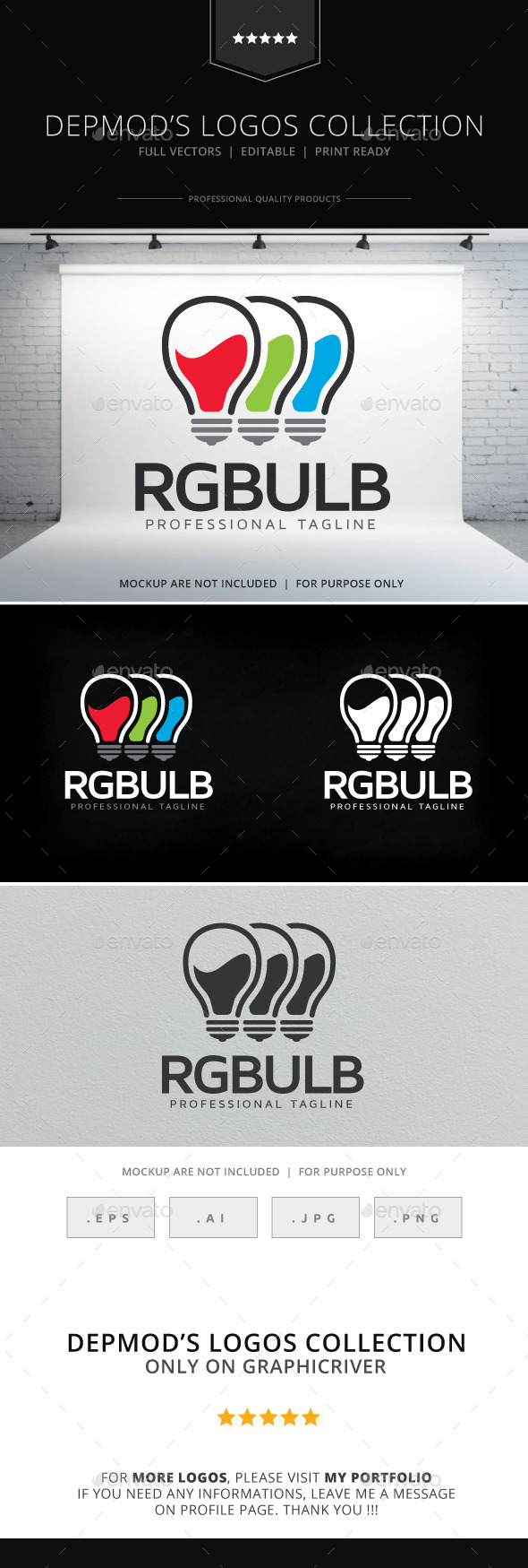 RGBulb Logo - Objects Logo Templates