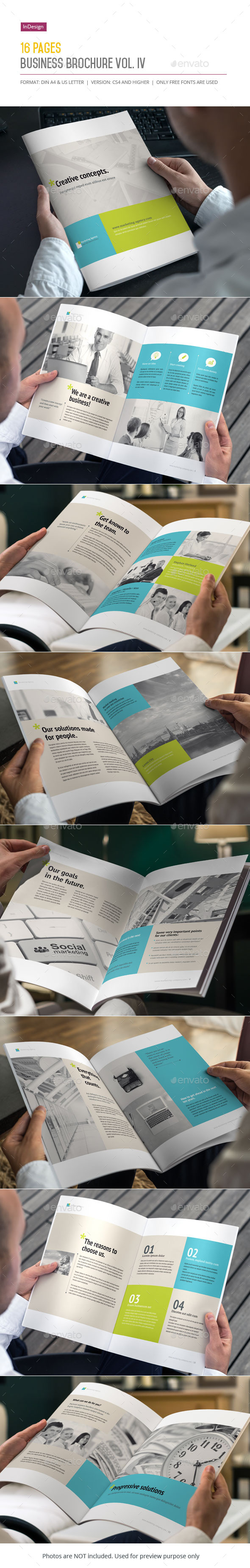 16 Pages Business Brochure Vol. IV - Corporate Brochures