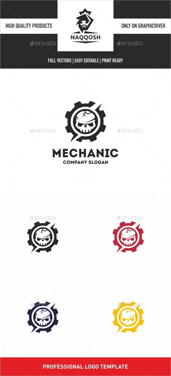 Mechanic - Symbols Logo Templates