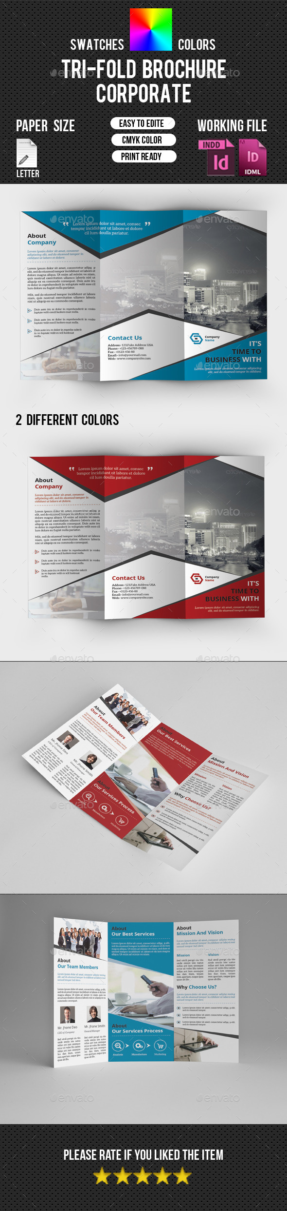 Corporate Trifold Brochure-V225 - Corporate Brochures
