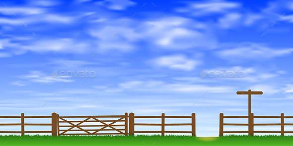 Gate and Fence - Landscapes Nature