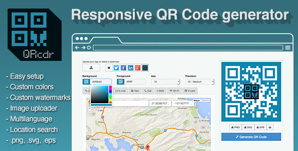 QRcdr - responsive QR Code generator - CodeCanyon Item for Sale