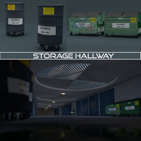Storage Hallway - 3DOcean Item for Sale