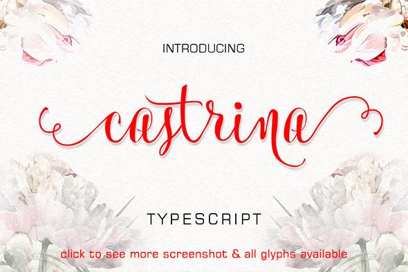 Castrina Typescript - Script Fonts