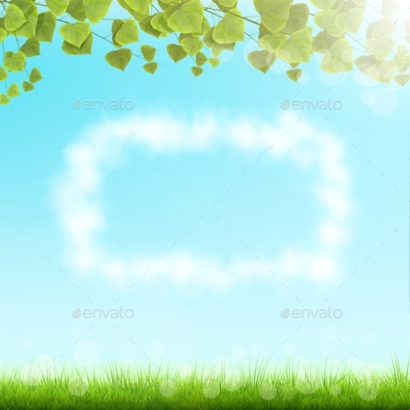 Cloud Frame On Sky Background. - Backgrounds Decorative