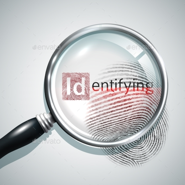 Fingerprint Search Illustration - Decorative Vectors