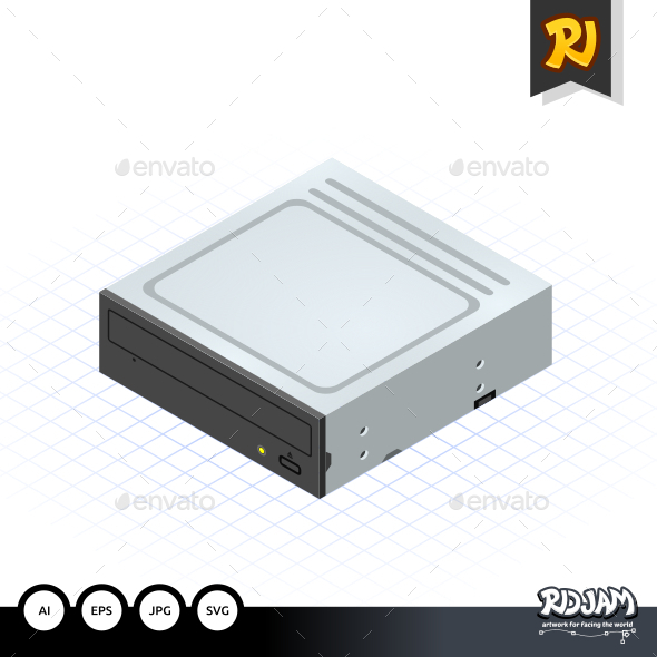 Isometric Disc Drive - Computers Technology