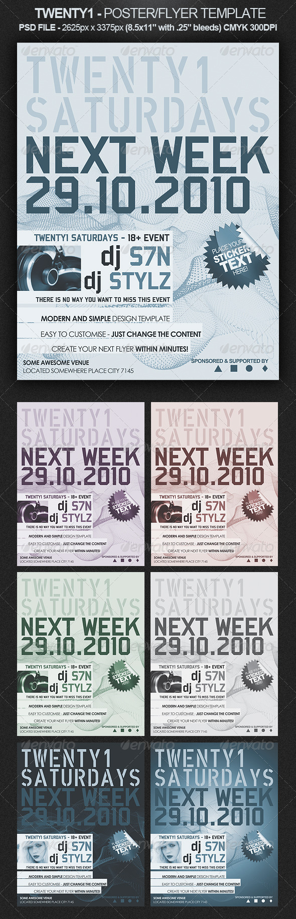 Twenty1 Flyer/Poster Template - Clubs & Parties Events