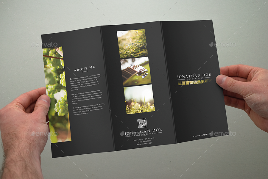 Photography Tri Fold Brochure Template By Shapshapy