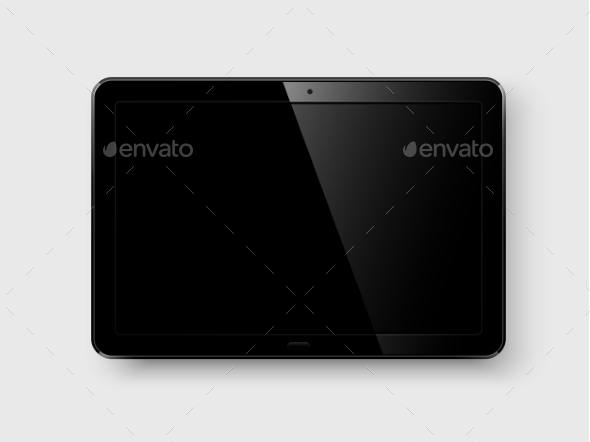 Tablet pc. Vector - Computers Technology