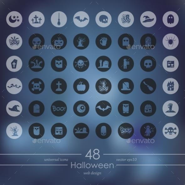Set of Halloween Icons - Halloween Seasons/Holidays