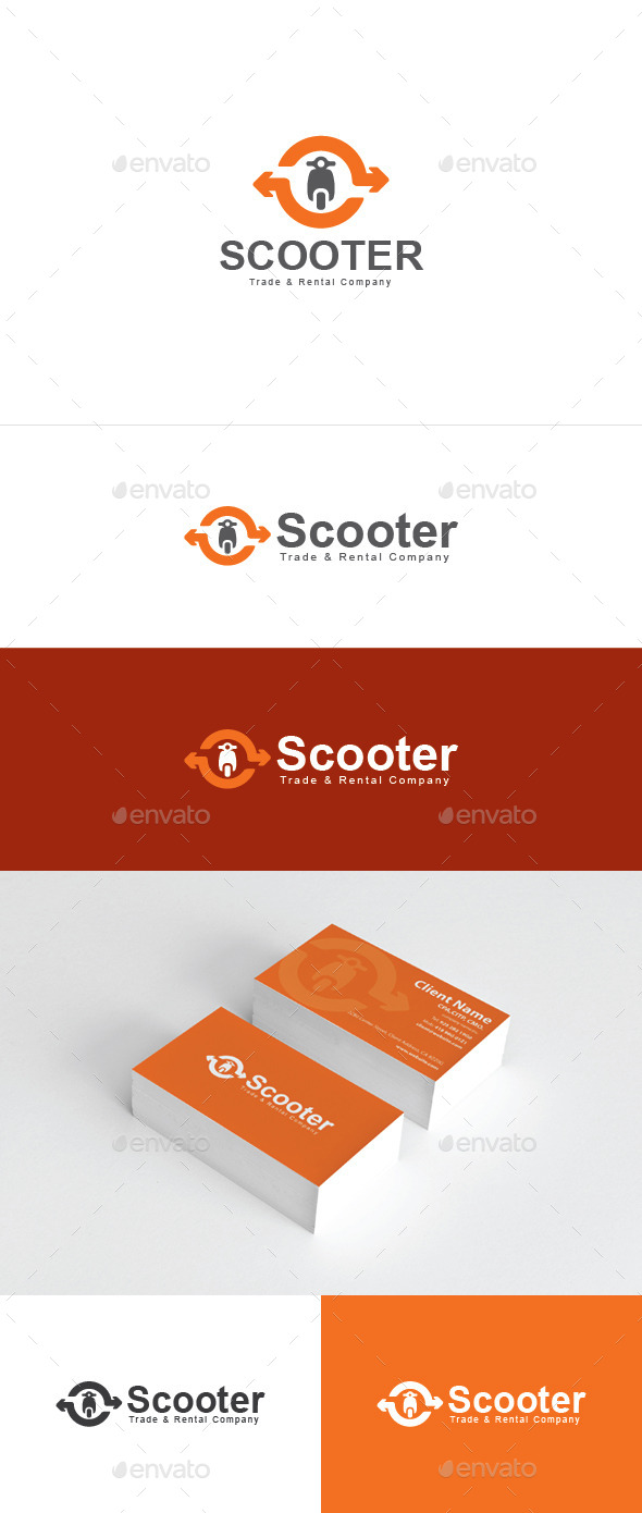 Scooter Rental - Objects Logo Templates
