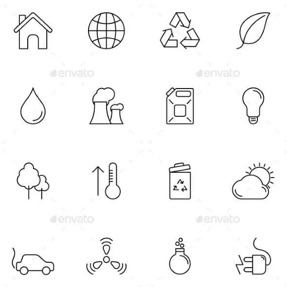 Ecology and Environment Icons - Nature Conceptual