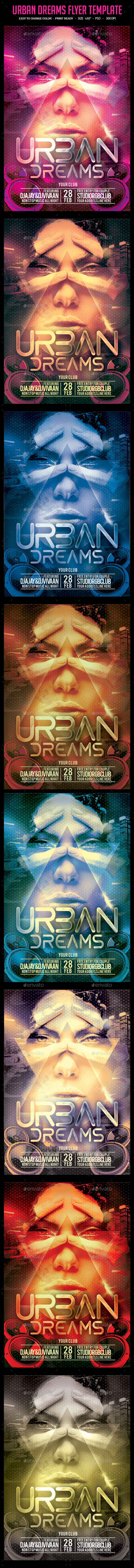 Urban Dreams Flyer Template - Clubs & Parties Events