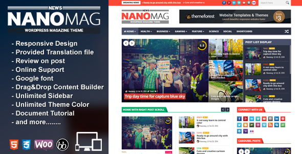 NanoMag – Responsive WordPress Magazine Theme