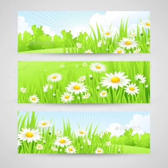 Spring Banners  - Landscapes Nature