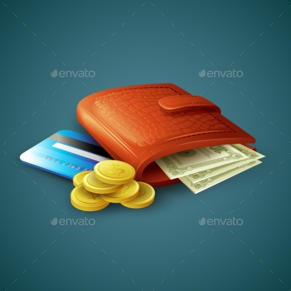 Purse with Money and Cards  - Retail Commercial / Shopping