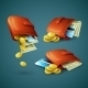 Purses with Money, Coins and Cards  - GraphicRiver Item for Sale