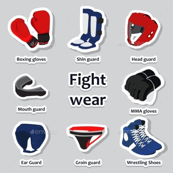 Set of Sport Equipment for Martial Arts - Sports/Activity Conceptual
