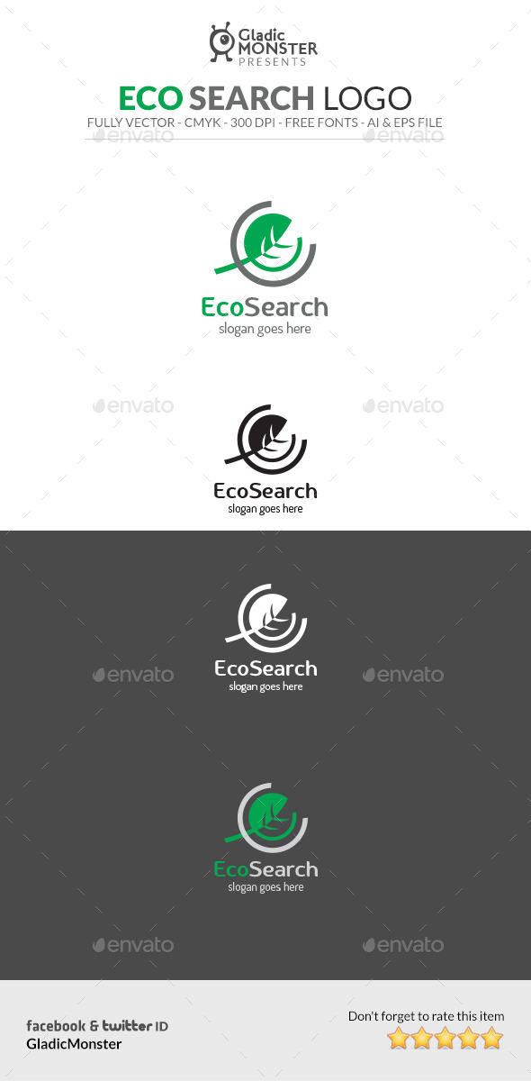 Eco Search Logo - Symbols Logo Templates
