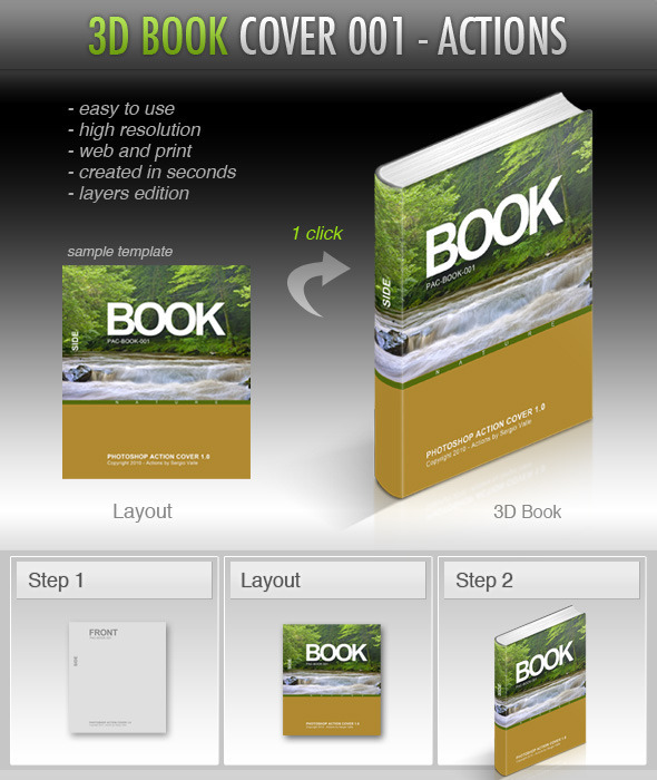 3D Book Cover Mockup Creator - Utilities Actions