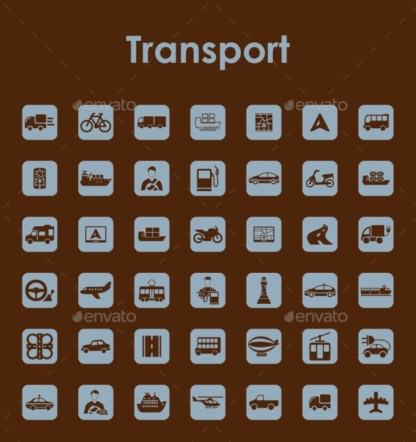 Set of Transport Icons - Travel Conceptual