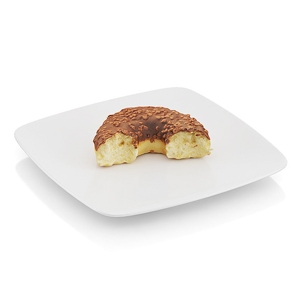 Bitten donut with chocolate - 3DOcean Item for Sale